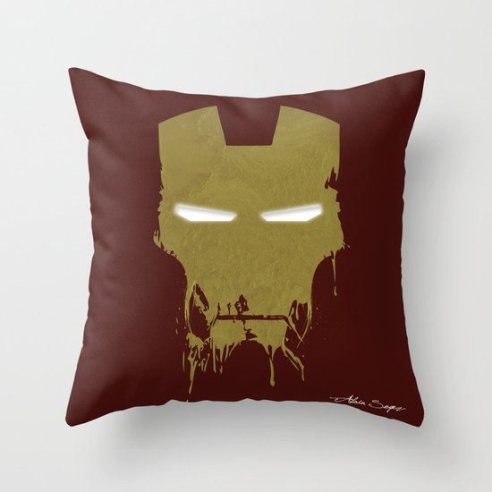 Iron Dirty Man Throw Pillow