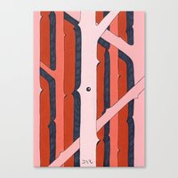 Mono Pattern | The Rosewood Canvas Print