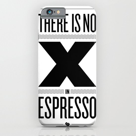 No X in Espresso – Black iPhone & iPod Case