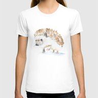Hedgehog Womens Fitted Tee White SMALL