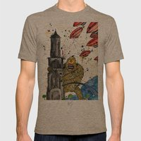Honey Monster Mens Fitted Tee Tri-Coffee SMALL