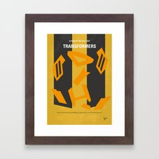 No540 My Transformers minimal movie poster Framed Art Print