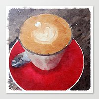 I Heart Coffee Canvas Print