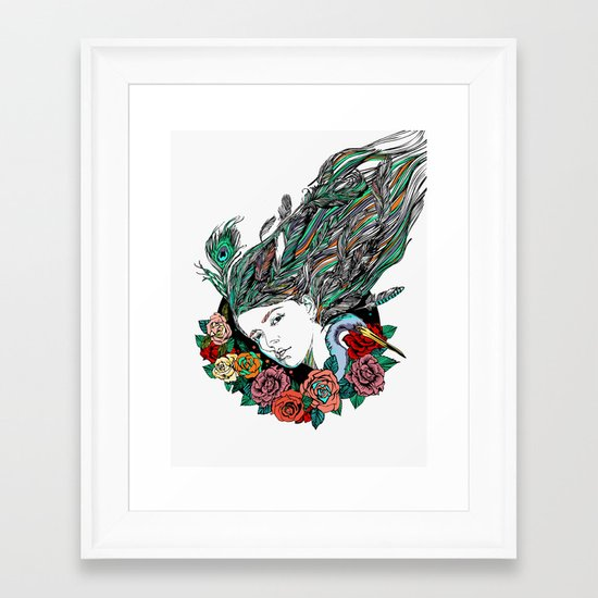 Feather Dream Framed Art Print