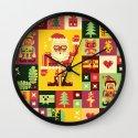 Christmas Geometric Pattern No. 1 Wall Clock