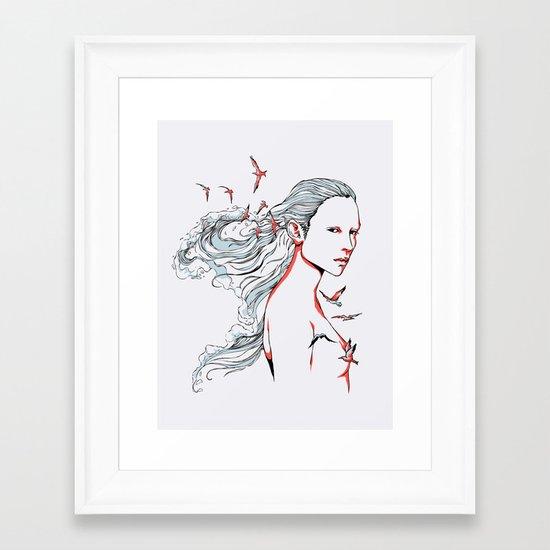 Queen of Ocean Framed Art Print
