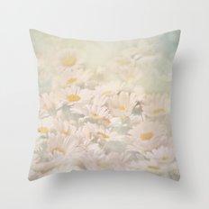Hazy Daisies Throw Pillow
