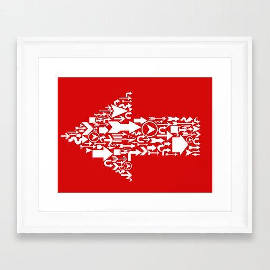 Wrong Way! Framed Art Print