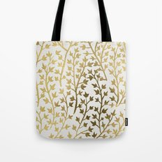 Gold Ivy Tote Bag