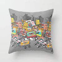 Digital Ruins Our Life Throw Pillow