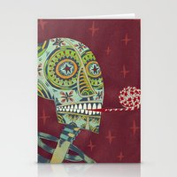 happy birthday Stationery Cards featuring Happy Birthday by Santiago Uceda