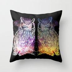 Cosmic Owl Throw Pillow