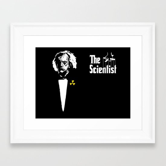 The Scientist Framed Art Print