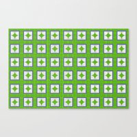 Green Pattern And Graphi… Canvas Print