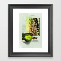Red-Eared Turtle Framed Art Print