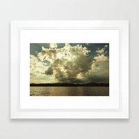 the sky that day Framed Art Print
