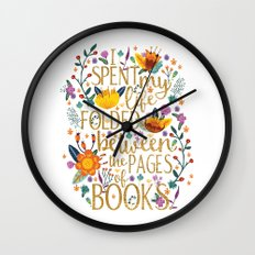 Folded Between The Pages… Wall Clock