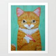 SHRIMP SUSHI Art Print