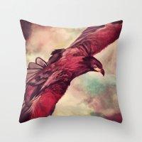 Eagle Splash Throw Pillow