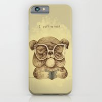 iPhone & iPod Case featuring I ruff to read by LuisaPizza
