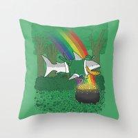 The Lucky Shark Throw Pillow
