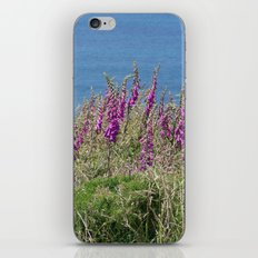 Flowers on the cliff iPhone & iPod Skin