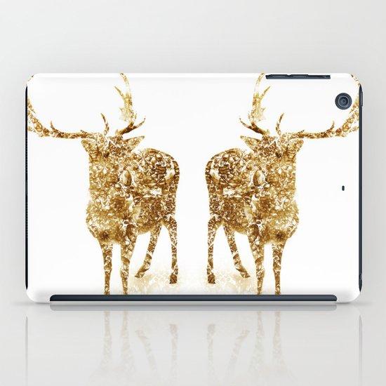 Old School Rocks! Gold Deer Version iPad Case