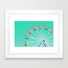 Minty Ferris Wheel of Happiness Framed Art Print