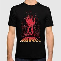 Groovy Mens Fitted Tee Black SMALL