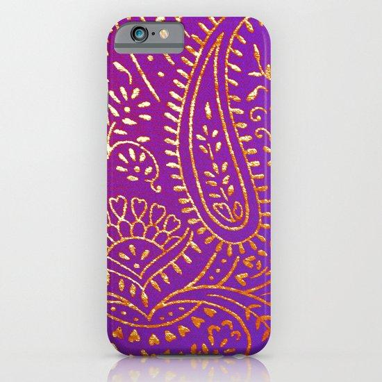 purple&gold iPhone & iPod Case