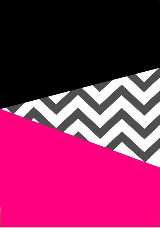 Color Blocked Chevron 8 Art Print