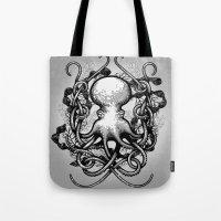 Octupus And COral (Black… Tote Bag