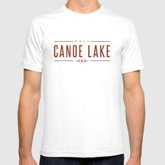 CANOE LAKE White SMALL Mens Fitted Tee