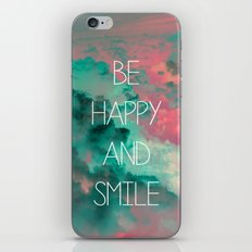 Be Happy and Smile iPhone & iPod Skin