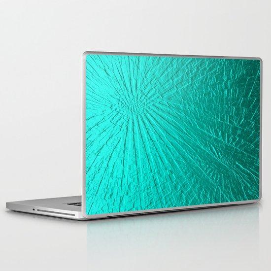 Turquoise Rays Laptop & iPad Skin