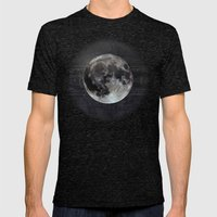The Moon Mens Fitted Tee Tri-Black SMALL
