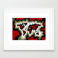 Map of the World, Classic View Framed Art Print
