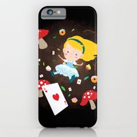iPhone & iPod Case featuring Alice Falling Down the Rabbit Hole by Reg Silva / Wedgienet.net