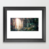 Sci Fi China Town Framed Art Print
