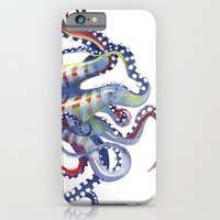 octopus iPhone & iPod Cases featuring Octopus by Sam Nagel