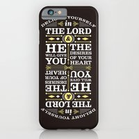 iPhone & iPod Case featuring Psalm 37:4 by Joseph Rey Velasquez