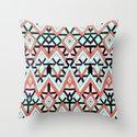 Geometric Mountains Throw Pillow