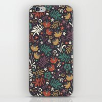 Midnight Florals iPhone & iPod Skin