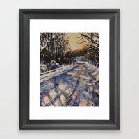 Frederick Road Framed Art Print