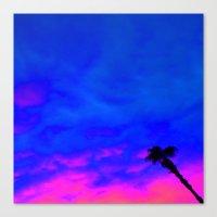 Under The Palm Canvas Print