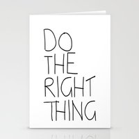 Do The Right Thing Stationery Cards