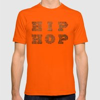 HIP HOP Mens Fitted Tee Orange SMALL