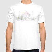 Watercolor Landscape Ill… Mens Fitted Tee White SMALL