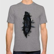 ...end Of Transmission.-… Mens Fitted Tee Tri-Grey SMALL