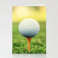 Golf Ball On Tee Stationery Cards